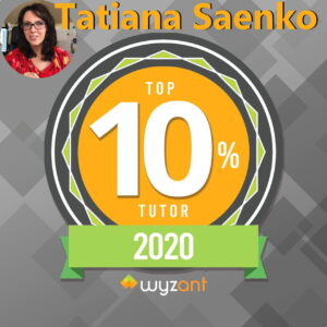 The Best Tutor 2020 Tatiana Saenko
